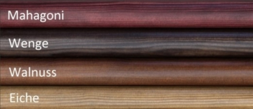 Farbe der Holzgriffe Stich-haltig