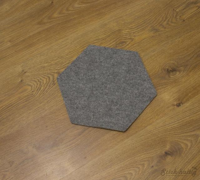 Hexagon aus Filz