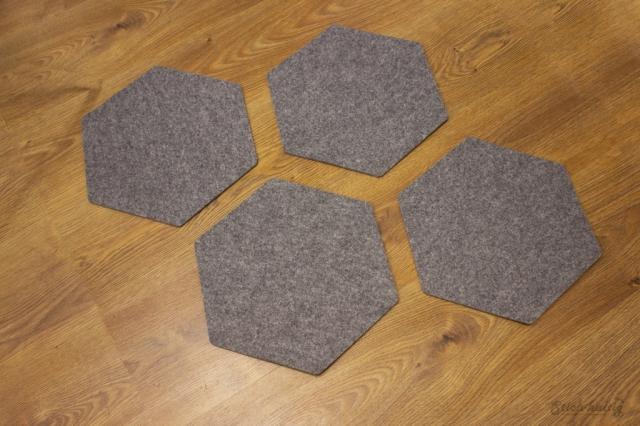 Tischset Hexagon Filz