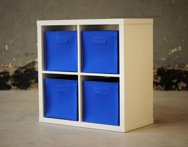 Filzkorb Schublade Box blau