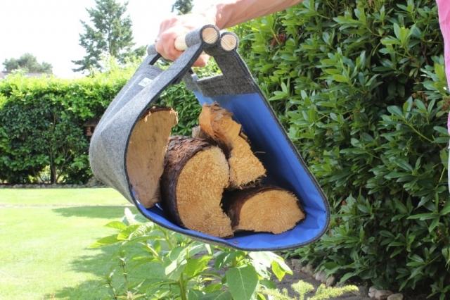 feuerholztrage Stich-haltig.com blau