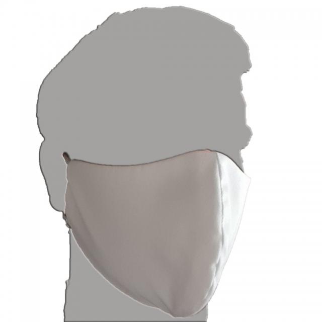 Mundbedeckung, Maske Baumwolle doppellagig wiederverwendbar weiß