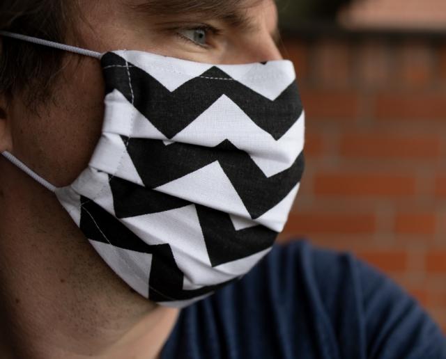 Maske Baumwolle mit streifen