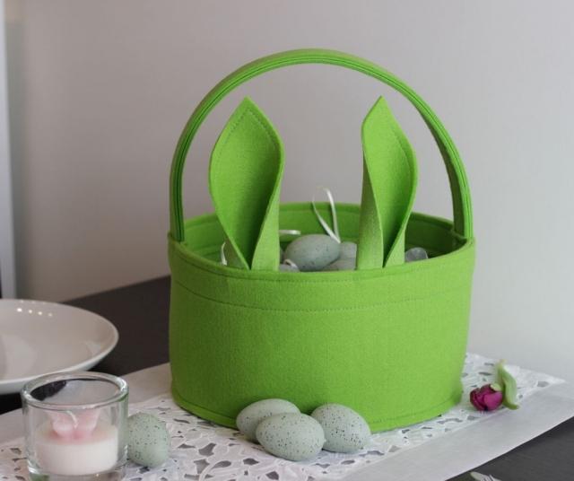 Osternest Sich-haltig grün mit Henkel