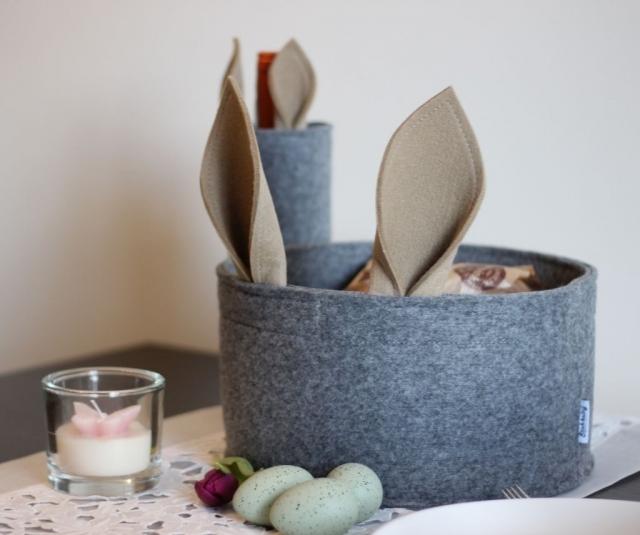 Osterkorb Geschenk-Set mit Flaschenhülle