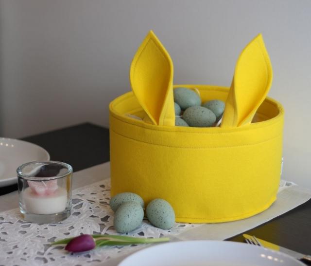 Osternest Stich-haltig gelb