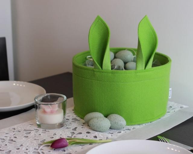 Osternest Stich-haltig grün