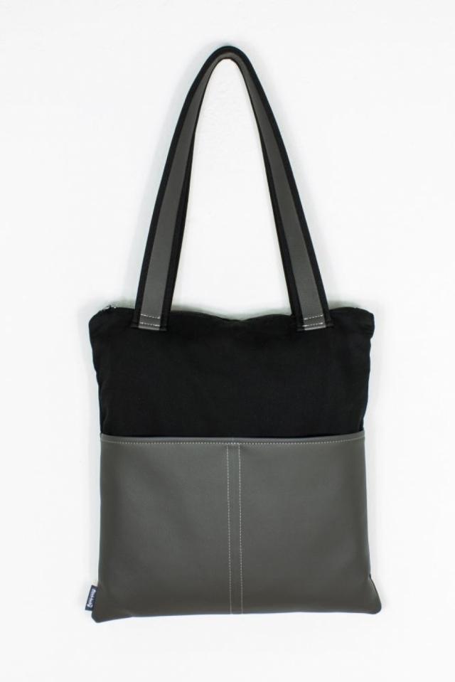Handtasche / Shopper vegan Kunstleder Grau