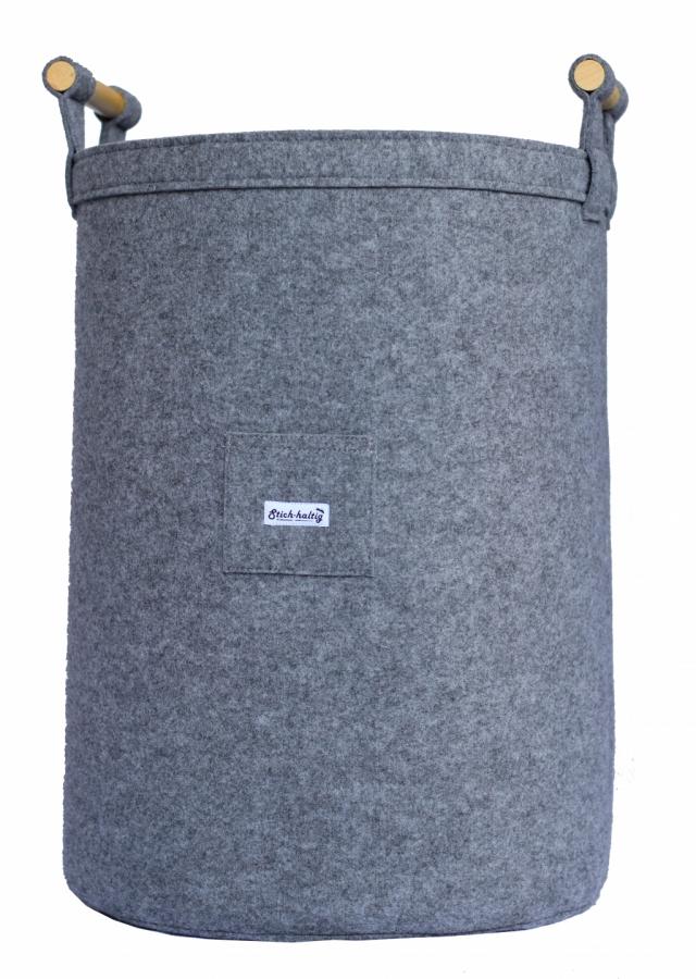 Tonne für Wäsche aus Filz