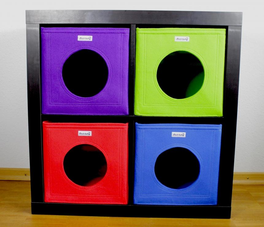 katzenh hle aus filz neue farben. Black Bedroom Furniture Sets. Home Design Ideas