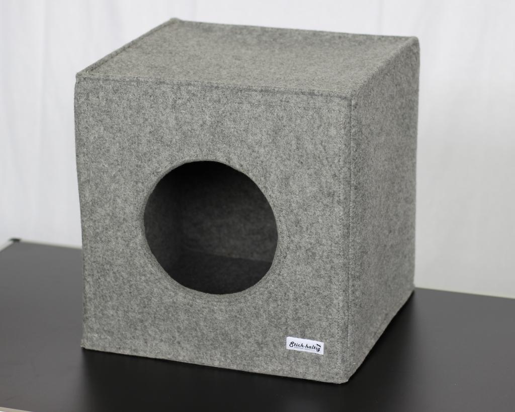 universelle katzenh hle aus filz von stich haltig. Black Bedroom Furniture Sets. Home Design Ideas