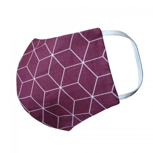 Behelfsmundschutz cube rot