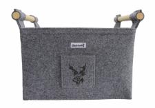 Filzkorb für Kaminholz mit Hirsch-Tasche