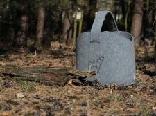 Filztasche mit Tragegriffen für Kaminhoz