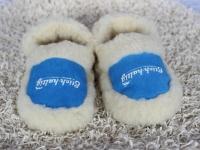 Hausschuhe aus Schafswolle blau