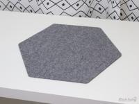 Hexagon Untersetzer aus Filz (4er-Set)