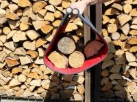 Feuerholztrage aus Filz dunkelgrau L