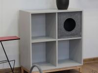 Katzenhöhle aus Filz hellgrau passend für Ikea Eket
