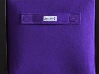 Regalkorb aus Filz lila