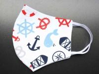 Behelfs-Mund-Nasen-Maske maritim community maske weiß