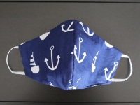 Behelfs-Mund-Nasen-Maske maritim community maske blau