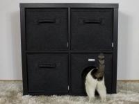 4er Set für Kallax mit Katzenhöhle