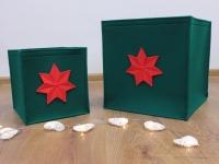 Weihnachtskorb aus Filz