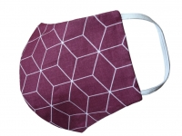 Behelfs-Mund-Nasen-Maske community cube dunkelrot